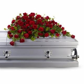 Order a Red Rose Reverence Casket Spray