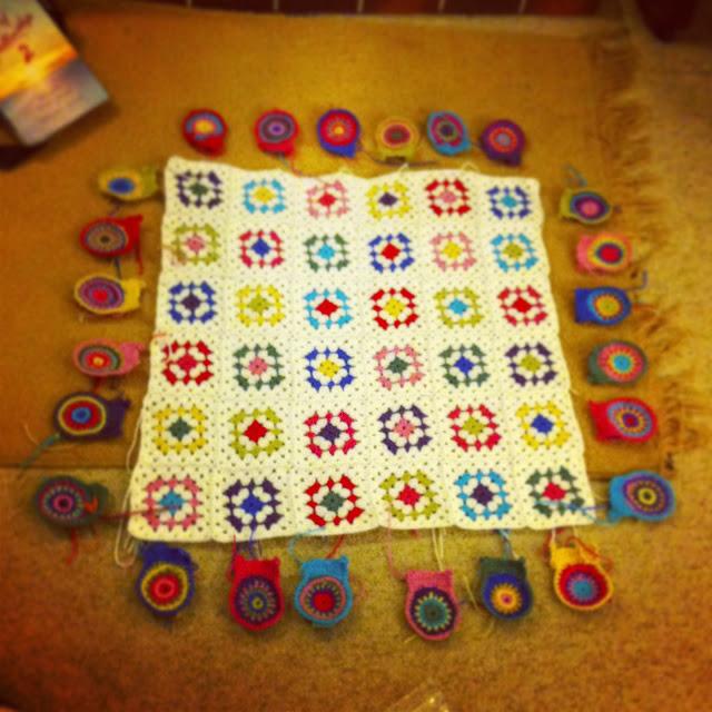 work in progress crochet blanket