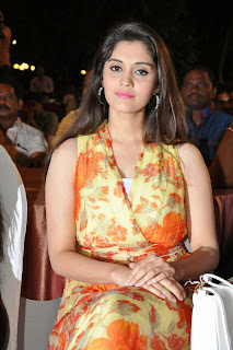 Actress Surabhi Pictures in Floral Dress at 365 Days Audio Launch 1
