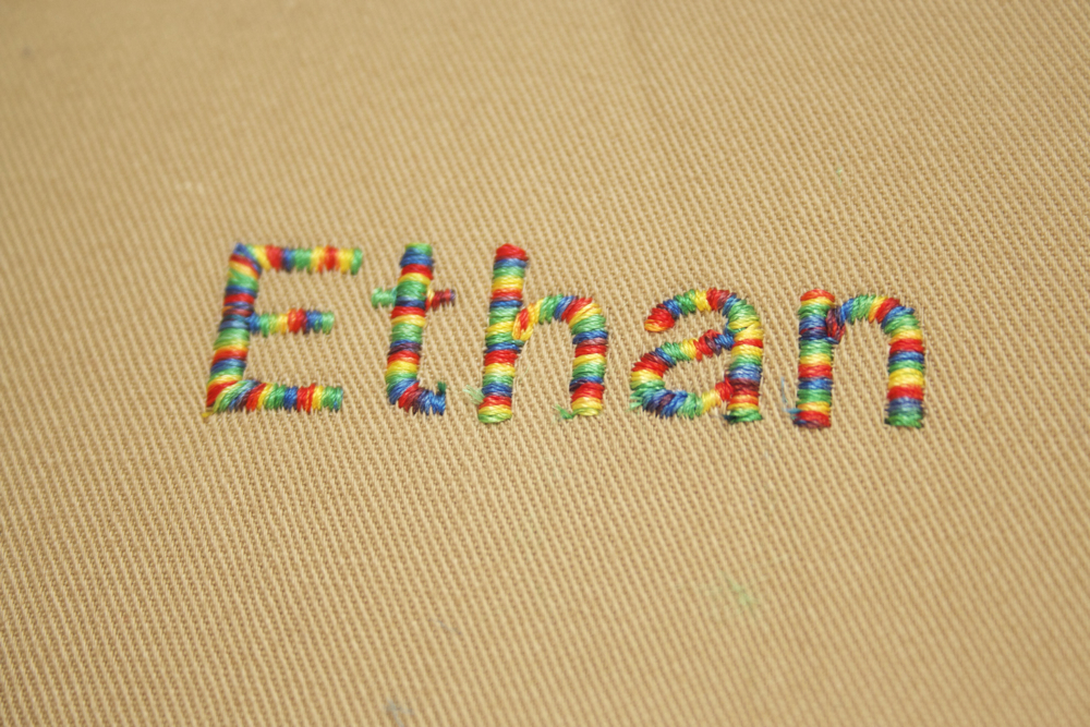 how to embroider names with a sewing machine