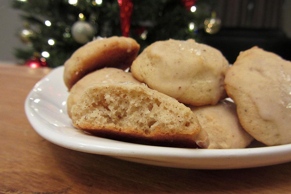 eggnog cake cookies inside
