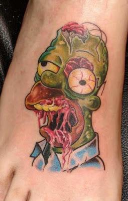 Tatuaje Homero Simpson zombie