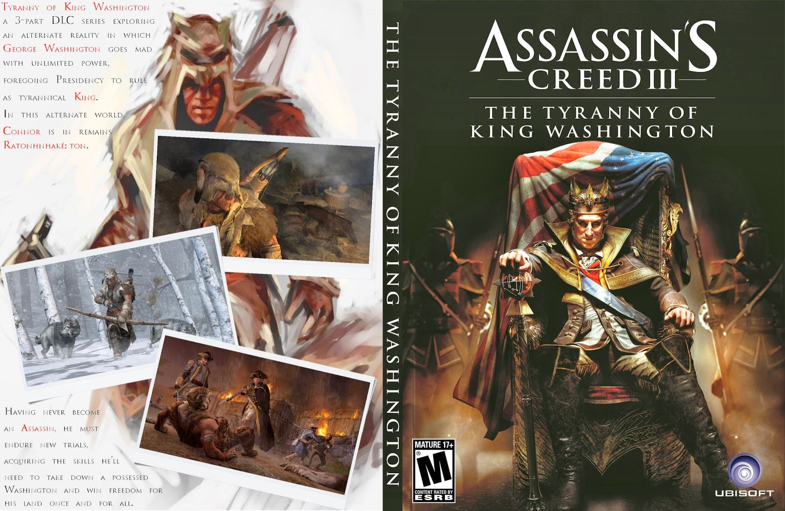Capa Assassins Creed III The Tyranny Of King Washington PC