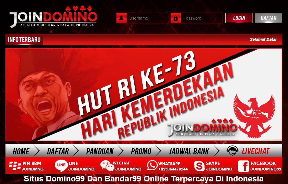 Joindomino: Situs Agen BandarQ Online Dan Poker Domino99