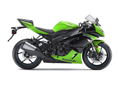 2012 Kawasaki Ninja ZX-6R Green Picture