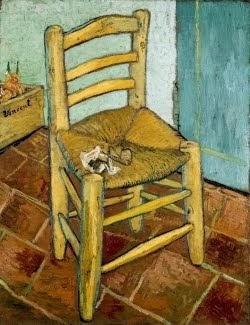 A cadeira de Van Gogh em Arles com cachimbo