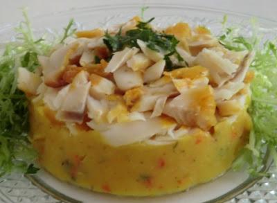 Filet de haddock à l'écrasé de pommes de terre et potimarron au curcuma