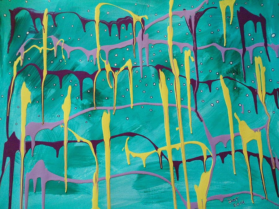 Drizzle Abstract Painting by Dotti Hannum