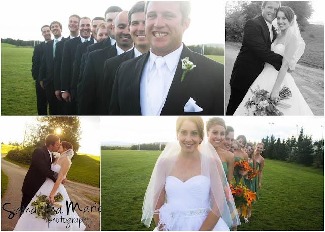 groomsmen and bridesmaid group shots