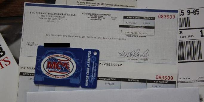 What is mca motor club of america for Mca motor club of america money