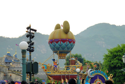 Mickey Mouse Carriage at the Flights of Fantasy Parade Hong Kong