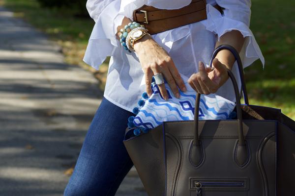 www.mimosalaneblogspot.com, pouches, blue masquerade, celine bag