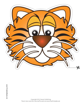 Massif image inside tiger mask printable