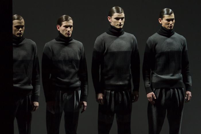 Presentacion en la pasarela de la nueva Coleccion Roots Otoño Invierno 2015 2016 de Etxeberria en la Fashion Week Madrid