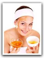 soin du visage au jaune et miel