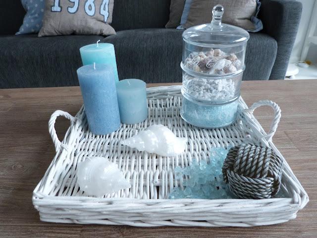 Het brocante schelpenhuisje beachy kaarsen - Wat op een salontafel ...