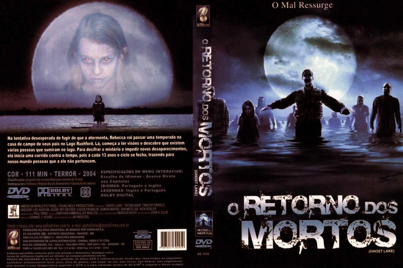 Capa DVD O Retorno Do Mortos
