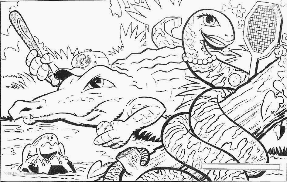 malvorlagen krokodil