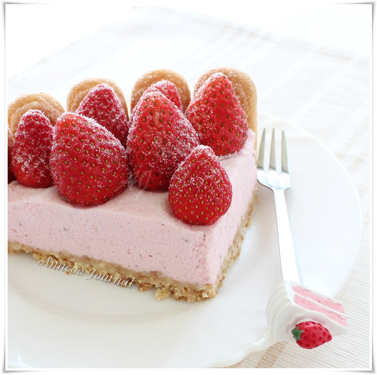 Charlotte Aux Fraises (Strawberry Charlotte) - Anncoo Journal