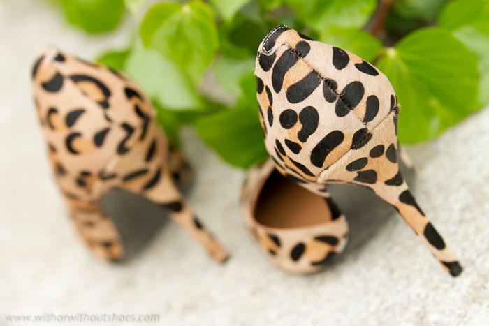 Stilettos de piel animal print con punta afilada cómodos modelo Gayyle