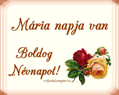 Szeptember 12 - Mária névnap