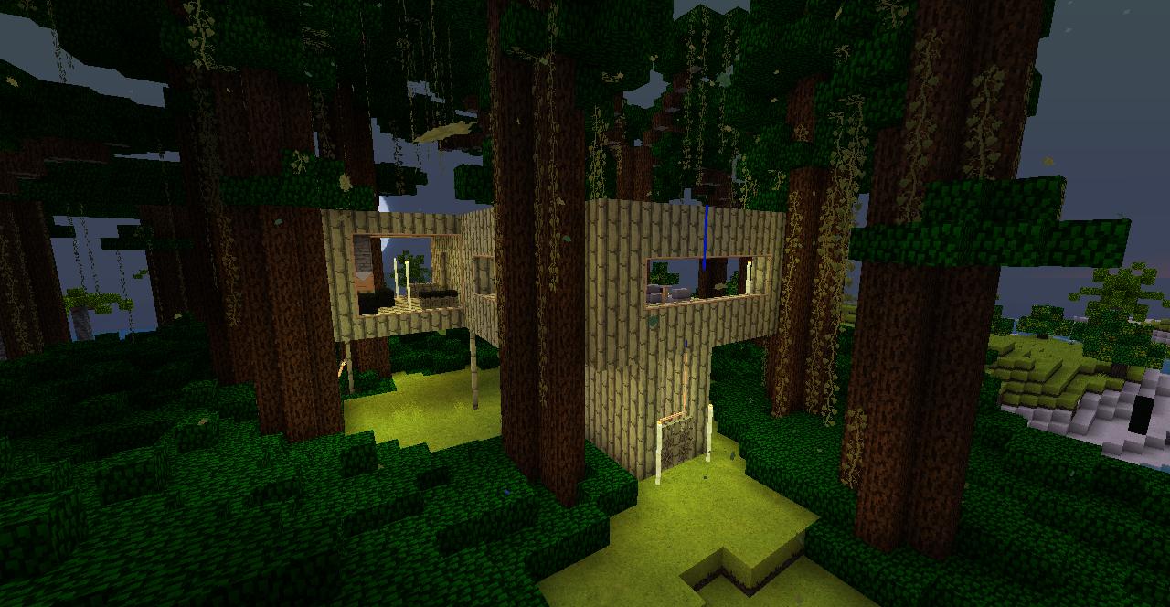 gracias a escaleras de bambú y una actualización de minecraft