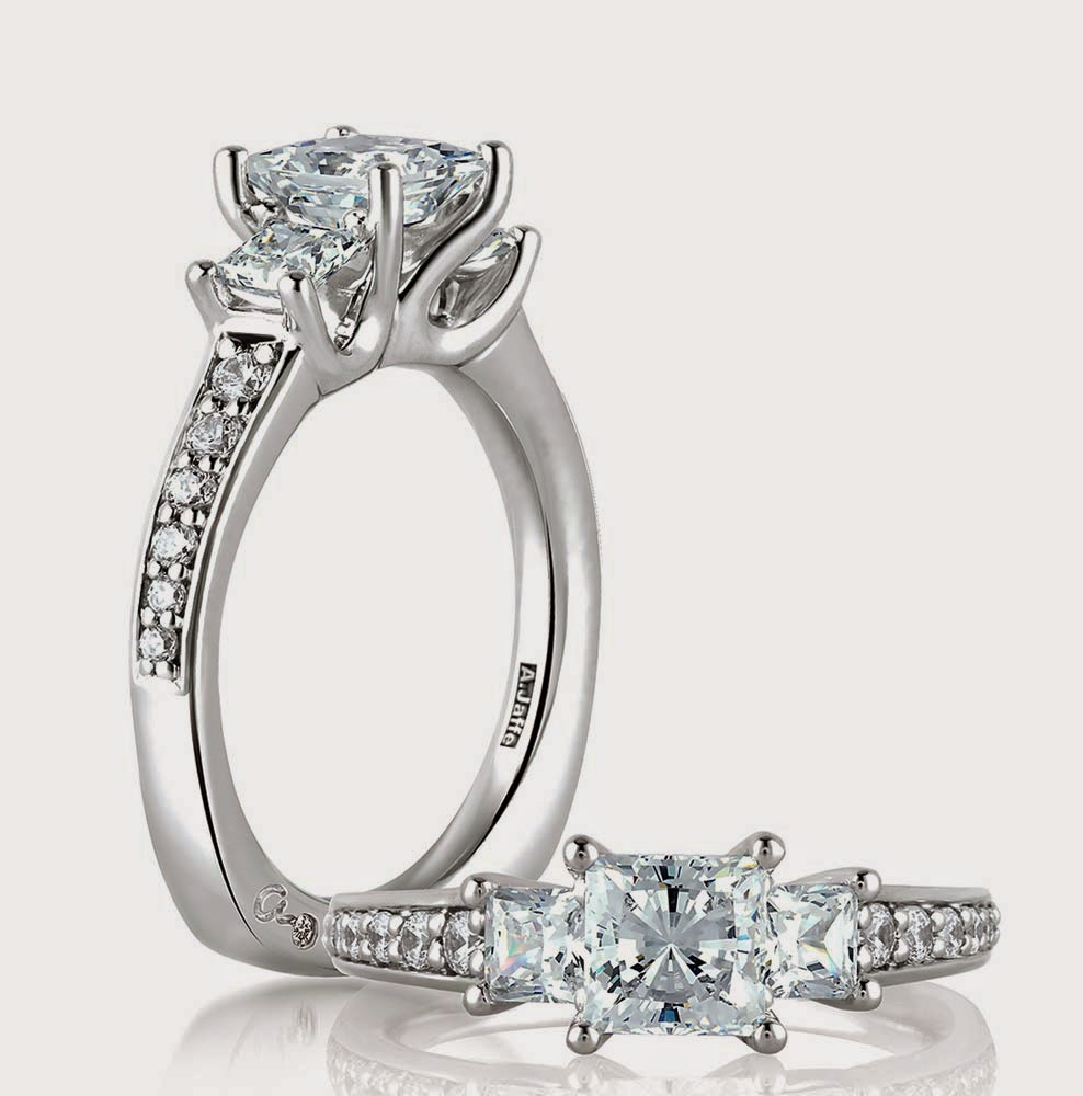 Womens 3 Diamond Wedding Ring Setting Types Images