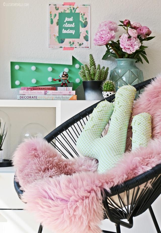 DIY | kaktus kissen selber nähen - handmade cactus pillow | luzia pimpinella