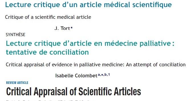 lecture critique article scientifique