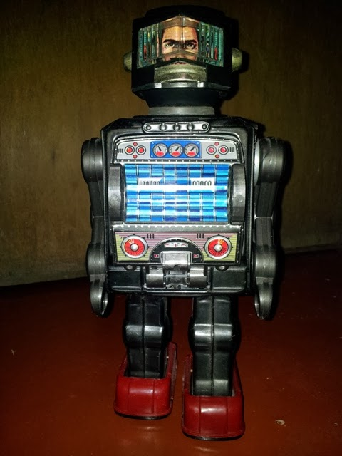 Vintage Horikawa Space Man Astronaut Robot Toy 70s.. Made in Japan
