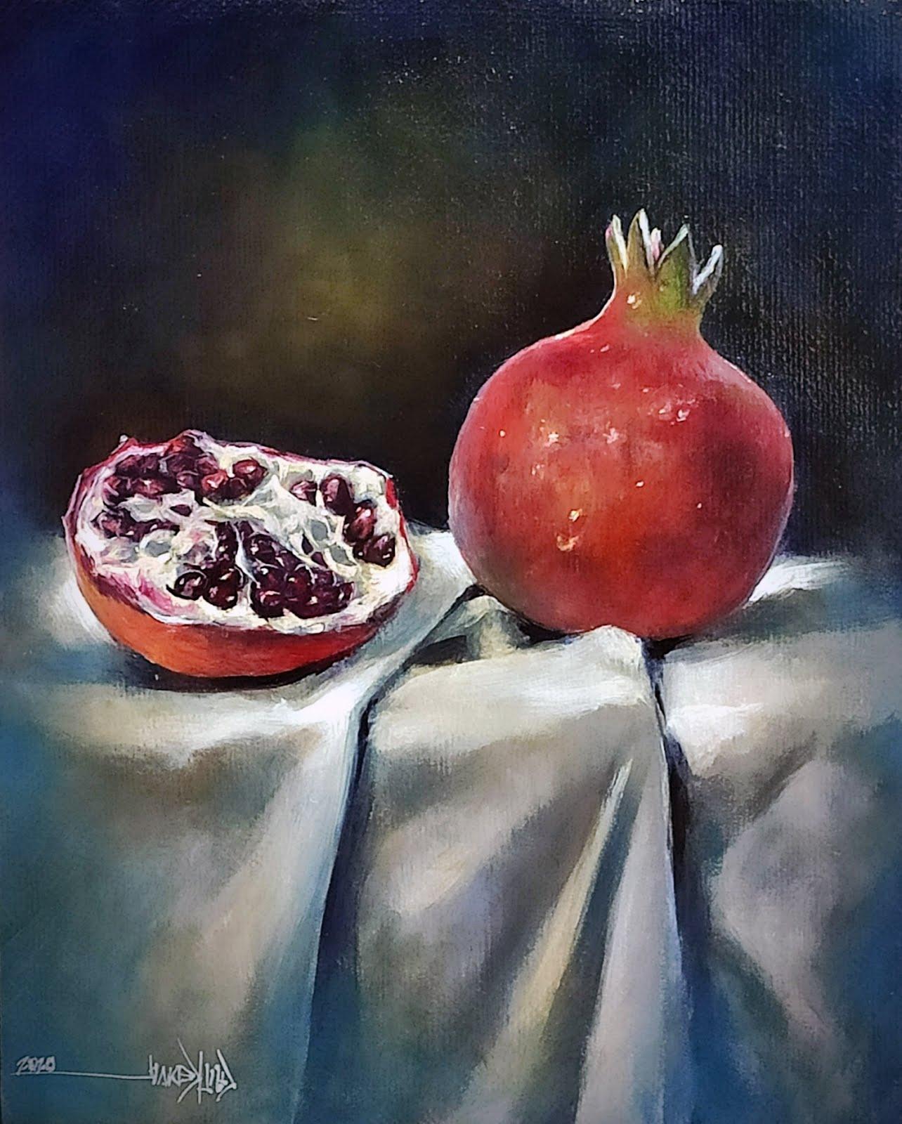 Still life pomegranate