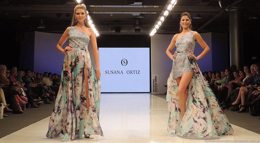 Vestidos Susana Ortiz primavera verano 2015. Moda primavera verano 2015.