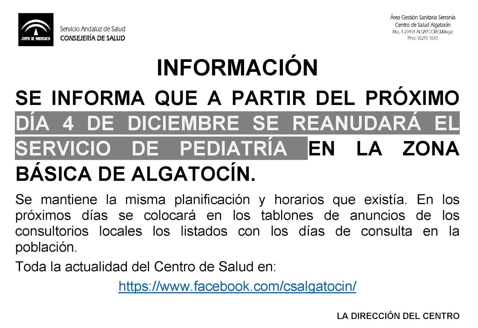 Centro de Salud Algatocín