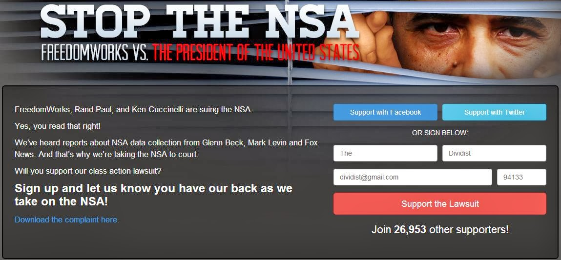 Class action lawsuit to stop the NSA
