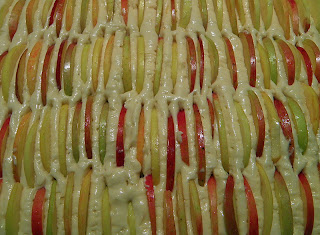 Apple Cake Ready to Bake with Multi-Color Apples