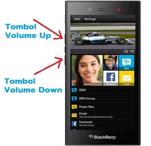Cara Sreenshot di HP BlackBerry Z3