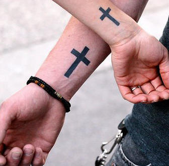 Inner Wrist Cross Tattoo Designs