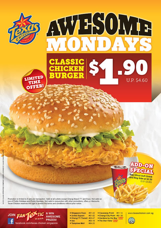 Texas Chicken Singapore Menu Texas Chicken Singapore $1.90