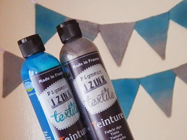 Test de la teinture textile à froid Izink avec @Creavea