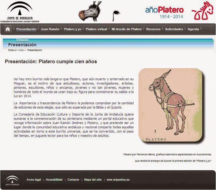 http://www.juntadeandalucia.es/educacion/webportal/web/centenario-platero/presentacion