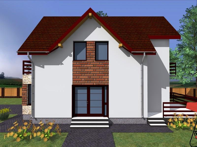 Proiect pentru o casa mica cu mansarda 2014