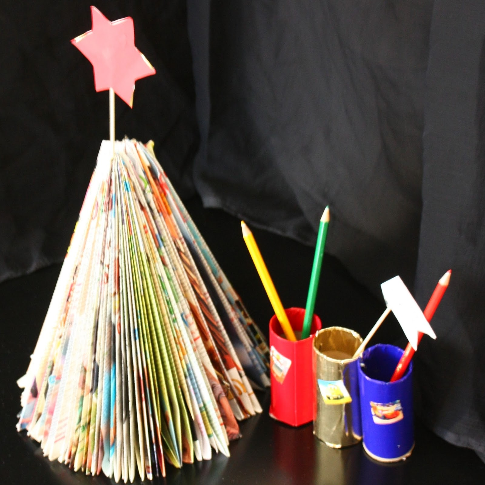 Waste Out Of Waste Ideas Of My World Of Stitching Paper Christmas Tree