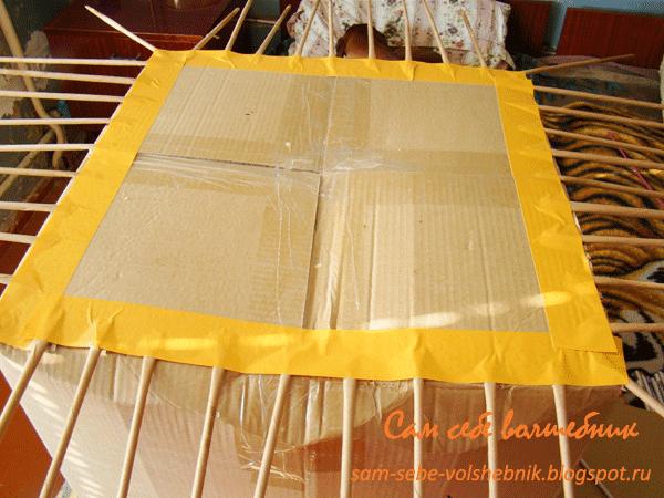 Плетеная корзина для хранения вещей. 31982