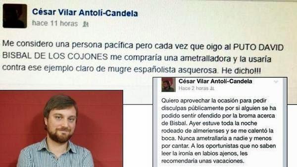 César Vilar pidió disculpas posteriormente por su comentario