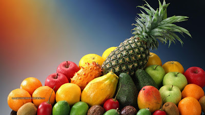 deliciosas frutas frescas en collage - fruits