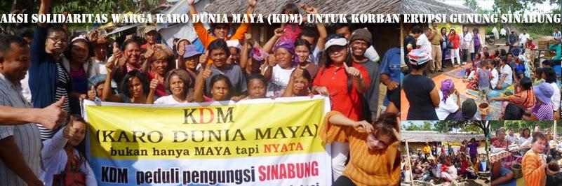 Aksi Solidaritas Warga Karo Dunia Maya(KDM) untuk Korban Erupsi Gunung Sinabung