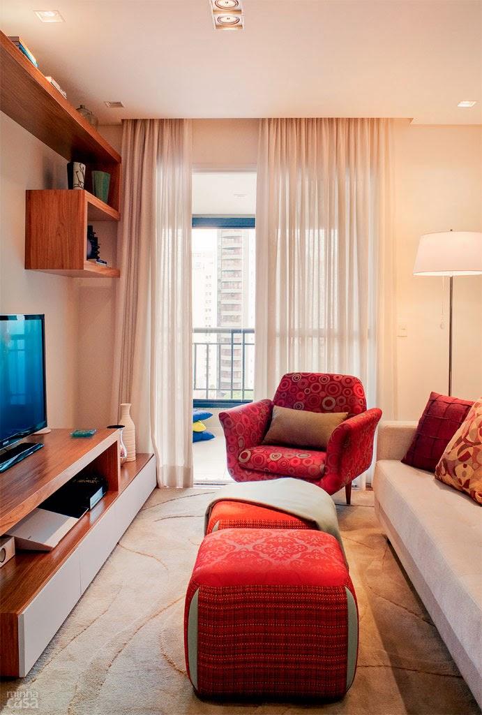 Apartamento de 69m bem planejado jeito de casa blog for Sala de estar homescapes