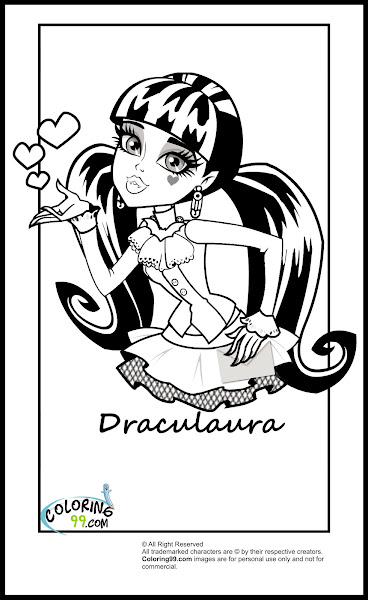 baby draculaura coloring pages - photo#5