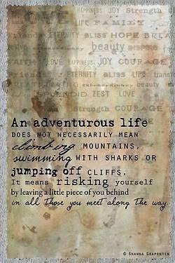 een avontuurlijk leven