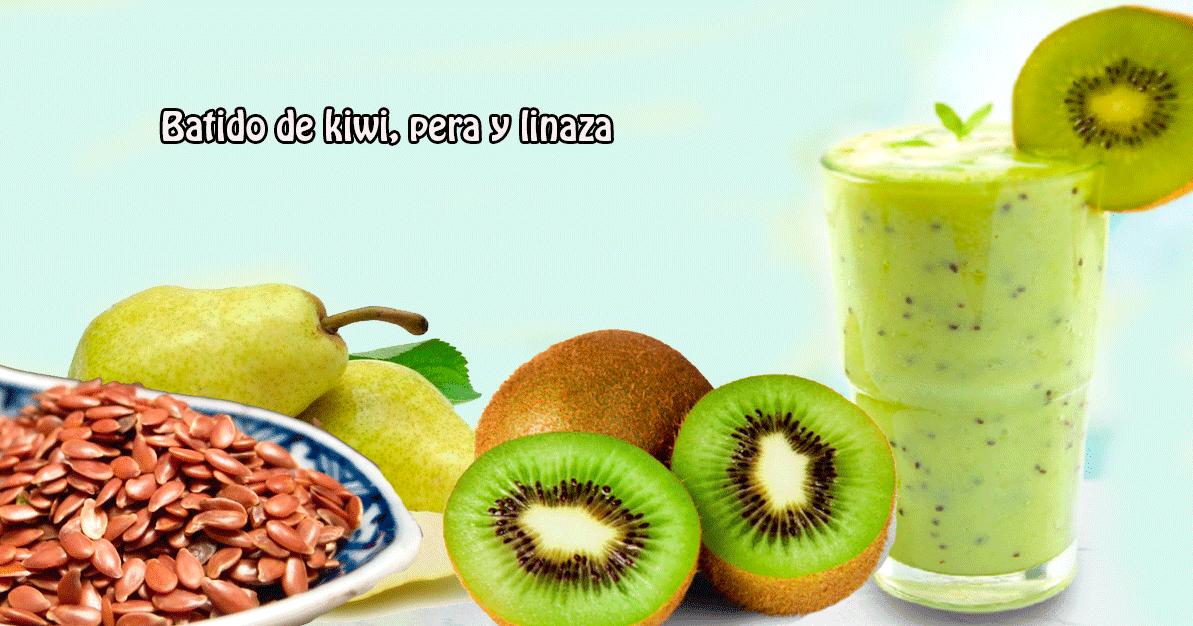 Batido de kiwi pera y linaza recetas f ciles - Batidos de kiwi ...